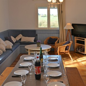 Le salon séjour de la Villa Er Scoudec
