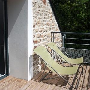 Pause détente sur le balcon de la chambre