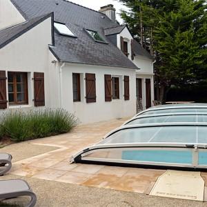 La Villa de la Plage, sa terrasse et sa piscine privée