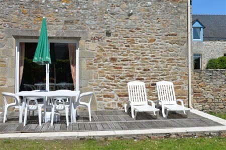Terrasse et jardin privés pour la Chapelle